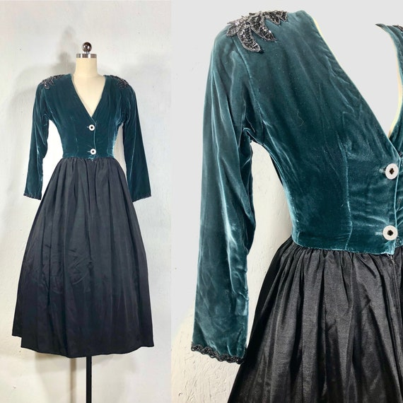 40s dress / vintage 1940s dress / cocktail party d