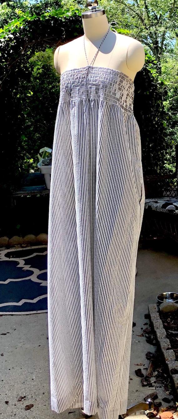 80s dress / Vintage John Anthony Dress / Cotton S… - image 2