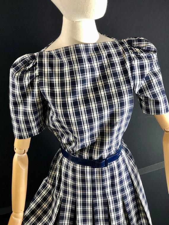1970s dress / vintage ARNOLD SCAASI Black White P… - image 2