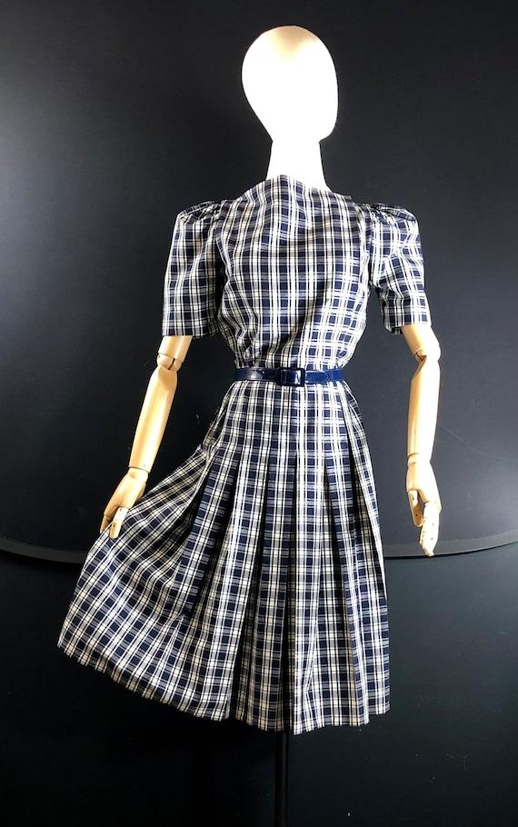 1970s dress / vintage ARNOLD SCAASI Black White P… - image 3