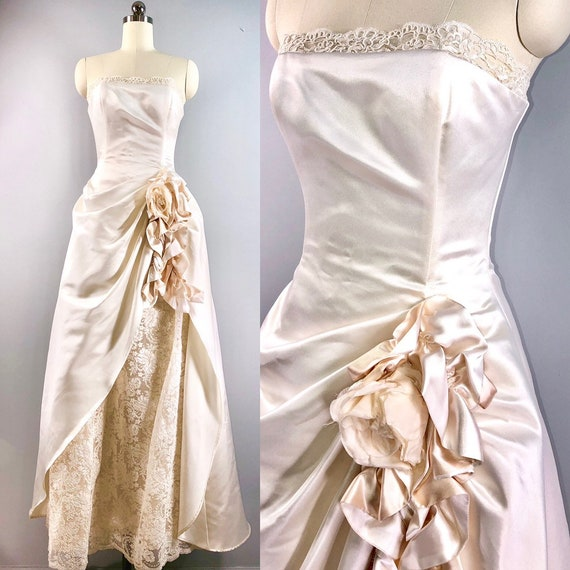 Jessica Mcclintock Lord Taylor Vintage Bridal Wedding Dress Etsy