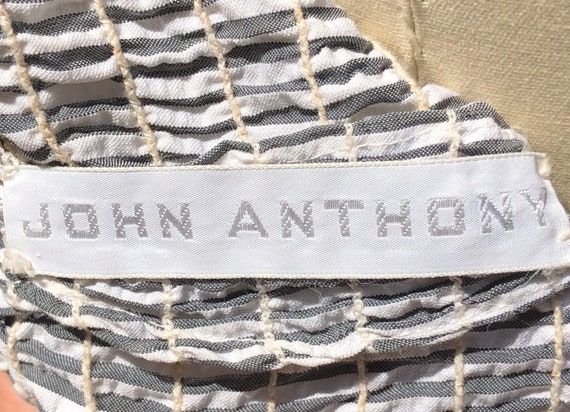 80s dress / Vintage John Anthony Dress / Cotton S… - image 9