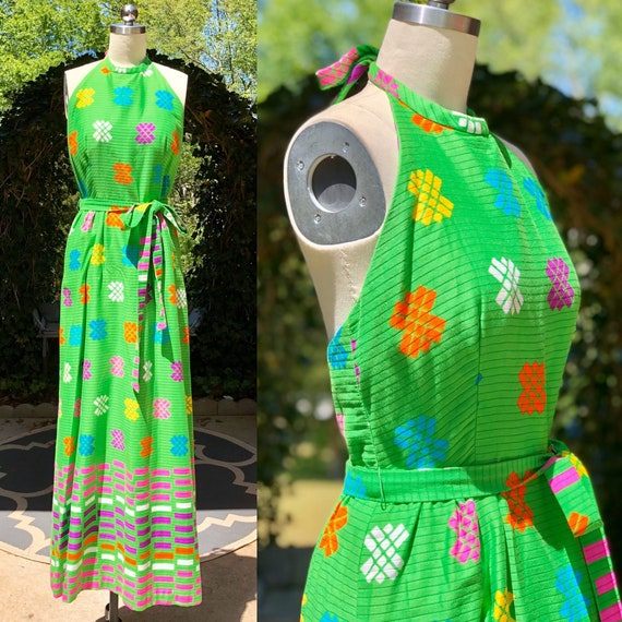 1960s dress / MALIA Honolulu Hawaiian / Vintage 60