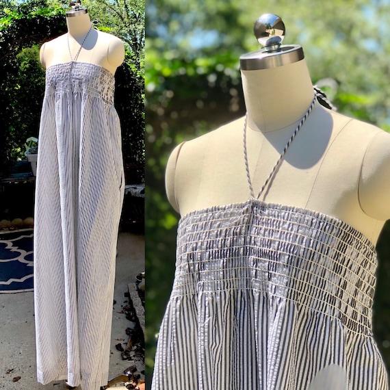 80s dress / Vintage John Anthony Dress / Cotton S… - image 1