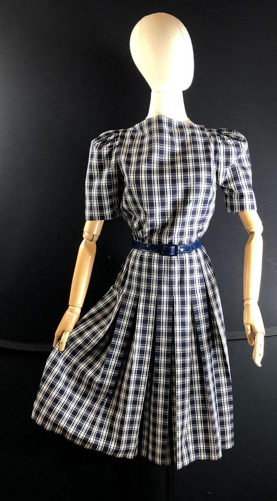 1970s dress / vintage ARNOLD SCAASI Black White P… - image 7