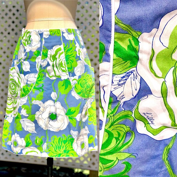 vintage 1960s Lilly Pulitzer skirt / The Lilly per