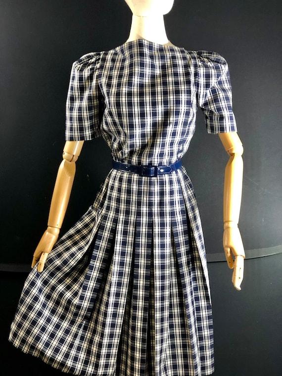 1970s dress / vintage ARNOLD SCAASI Black White P… - image 5