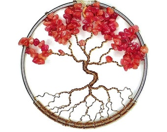 July Birthstone Dancing Tree of Life, Home Decoration, 3 Inch Ornament