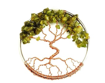 August Birthstone Dancing Tree of Life, Home Decoration, 3 Inch Ornament