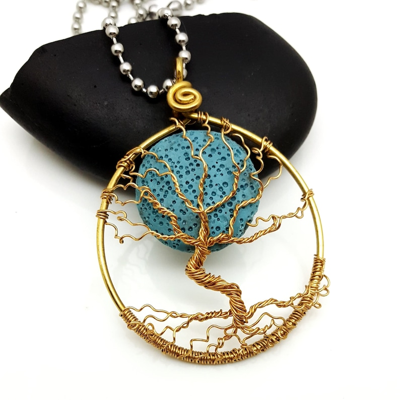 Scent Diffusing Winter Moon Pendant in Brass image 0