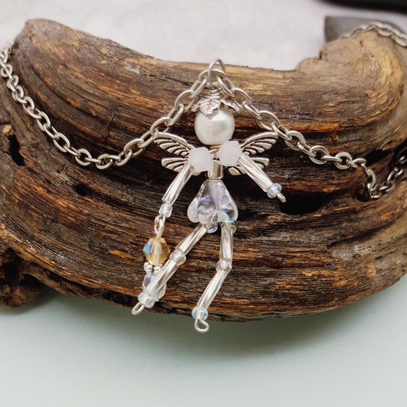 Fairy Friend Pendant with Silver Plated Chain image 0