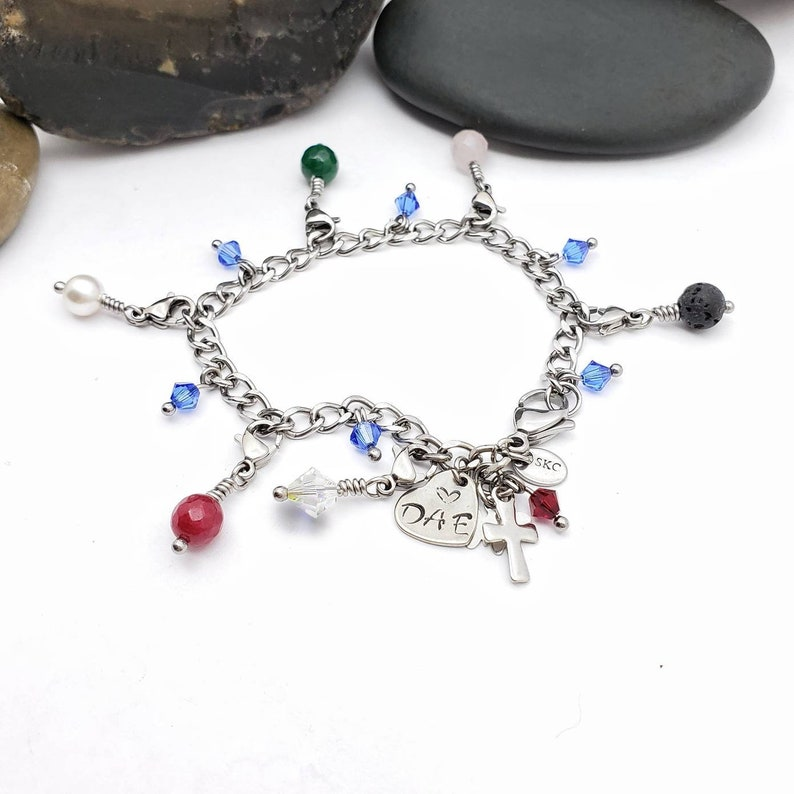 Stainless Steel Purity Charm Bracelet Made to Order with image 0
