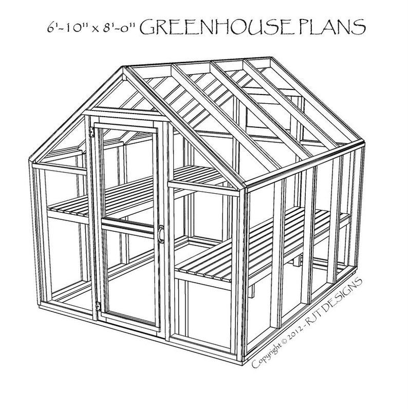 6'10 x 8'0 Greenhouse Plans  PDF image 0
