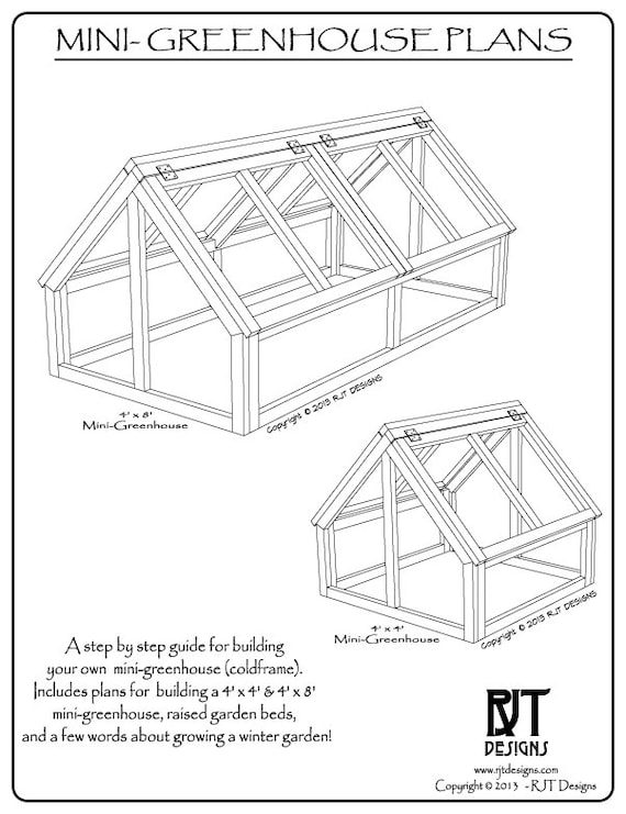 Mini Greenhouse Plans PDF Version | Etsy