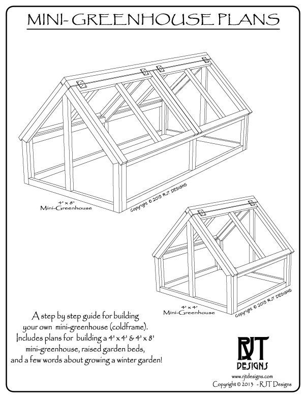 Mini Greenhouse Plans PDF Version