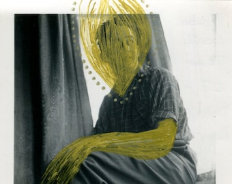 Golden Art - Original Collage On Portrait Photo, Fine Art Photo Manipulation On Old Photographs