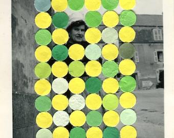 0ce108f5200f3 Neon Rainbow Surreal Dada Postcard Retro Original Paper Art | Etsy