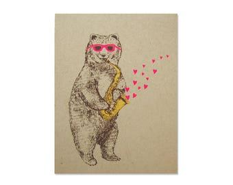 Romantic Card - Bear Love
