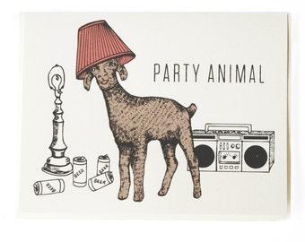 Birthday Card - Party Animal