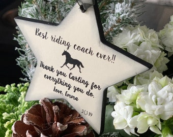Personalized Christmas Gift for Horseback Riding Instructor - Those That Inspire- Coach-Instructor- Thank You Gift