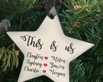 This Is Us Christmas Ornament - This Is Us Family Ornament- Personalized Family Ornament