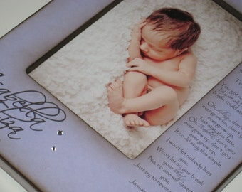 Personalized New Baby Picture Frame with Name and Birth Stats - Don't You Ever Grow Up