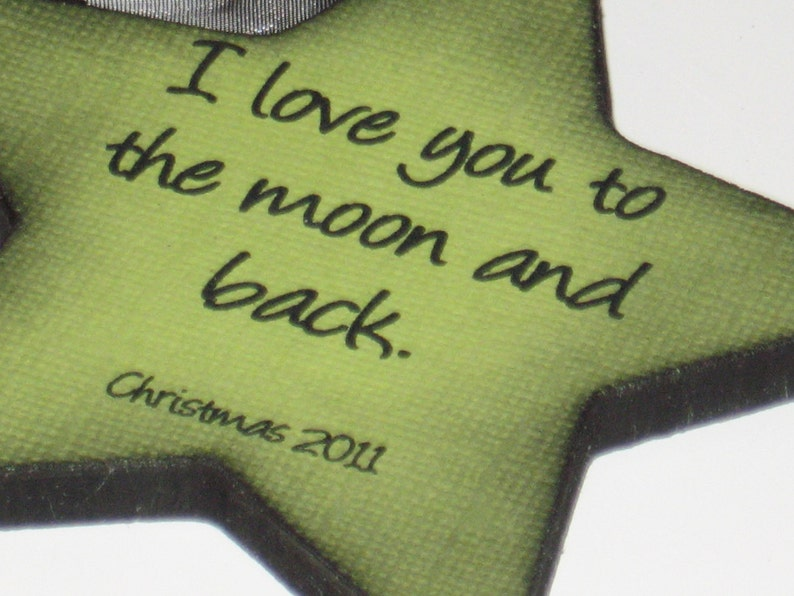 I Love You to the Moon and Back Christmas Ornament for   Etsy