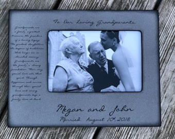 Personalized Picture Frame for Grandparents, Grandma, Grandpa, Grandmother, Grandfather, Personalize Wedding  Keepsake For Grandparents 4x6