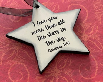 I Love You More Than All The Stars In The Sky - Christmas Ornament for Child- Christmas Ornament Girl- Christmas Ornament Boy