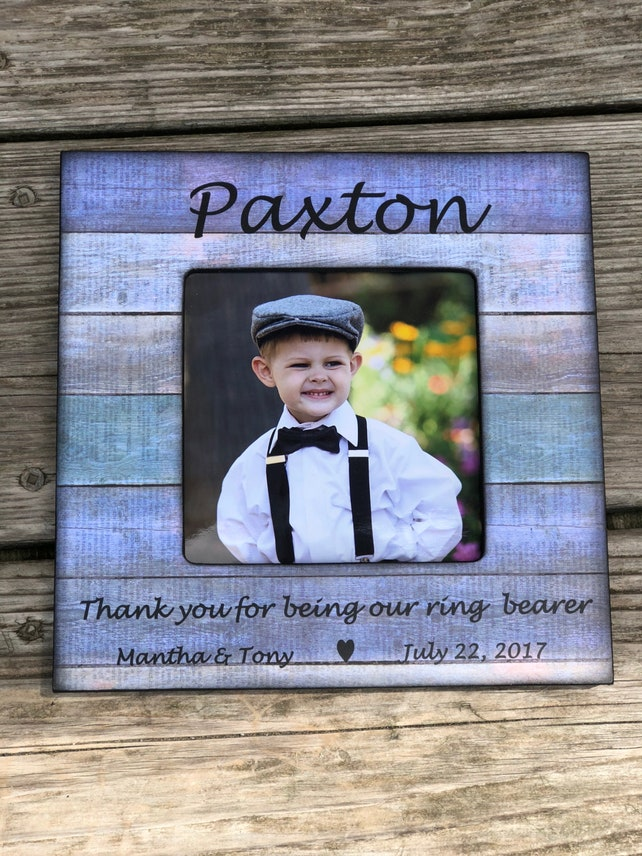 Thank You For Being Our Ring Bearer Personalized Picture | Etsy
