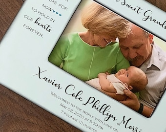 Personalized BABY Frame Name and Birth Date - Our Sweet Grandson/Granddaughter-Grandparents Frame-Grandson Frame- Granddaughter Frame