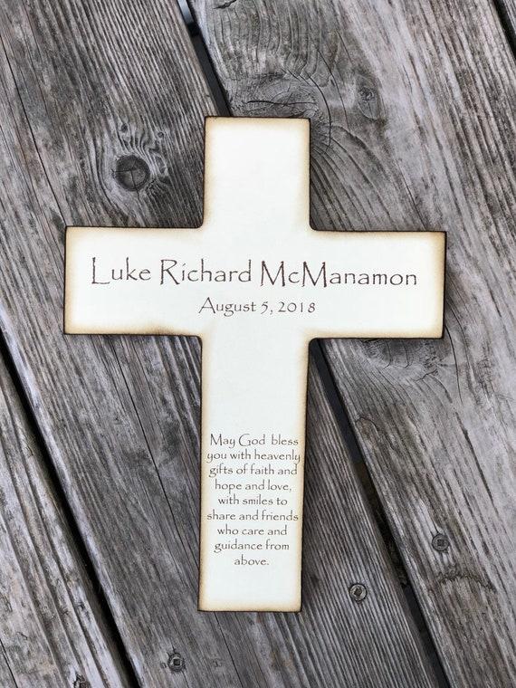 Personalisierte Christliche Kreuz Mit Gedicht Schöne Taufe Geschenk