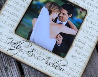 Personalized Wedding Song Lyric Picture Frame/ First Dance Picture Frame/ Gift for Bride and Groom
