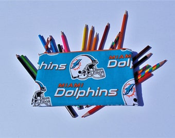 Pencil Case, Zippered Pouch, Cosmetic Case, Miami Dolphins, NFL