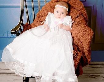 Christening Gown girl, Blessing Dress, Blessing Dress, Baptism Gown, Naming Dress, Formal Wear Lauren gown