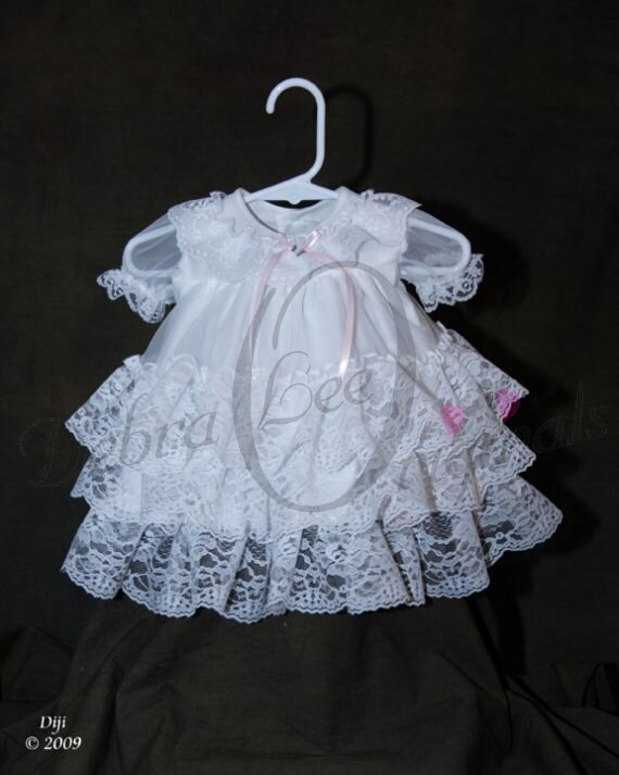 Christening Gown Chloe Lace Dress Lace Flower Girl Dress Baby Girl Lace Christening Dress White Blessing Gown