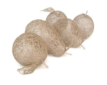 NATURAL LINEN FRUITS compositon gift wraped