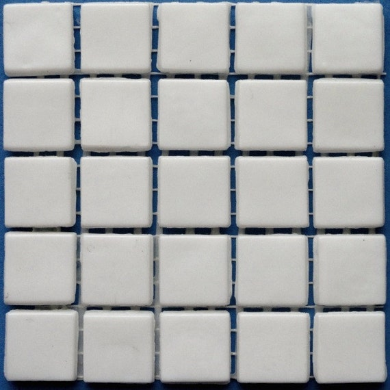 Sale 15mm 3 5 White Opaque Glass Mosaic Tiles Square Mosaic Supplies Mosaic