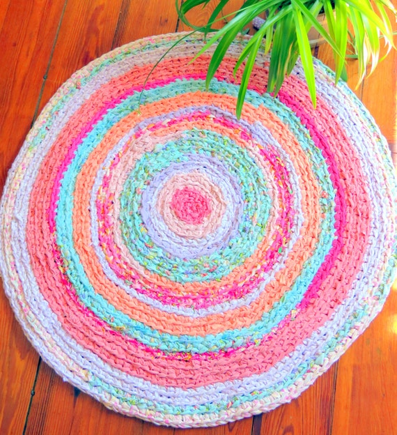Rag Rug Braided Crochet Rag RugLilly Pulitzer