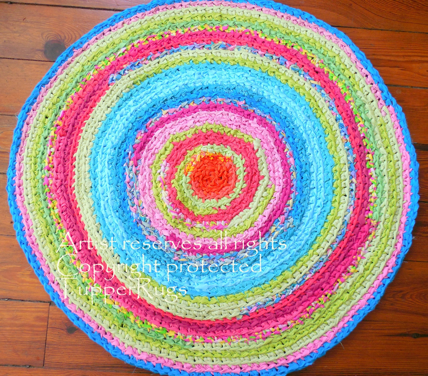 Rug Rag Rug Braided Lilly Pulitzer Inspired