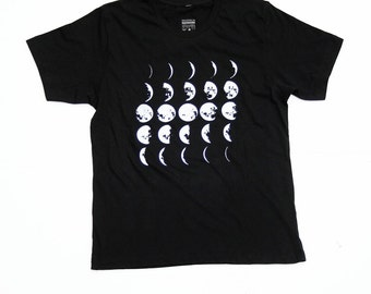 Mens Moon Shirt - Moon Tee - Science Tshirt - Black - Small, Med, Large, XL, 2X, - Mens Moon Tshirt