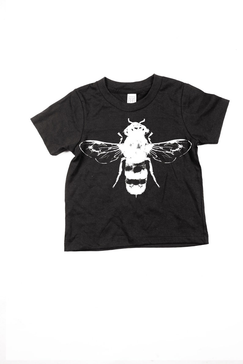 73b0f82c Childrens Bee Tshirt kids honey bee tee Black Bees | Etsy