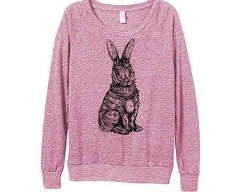 New! Rabbit Sweater  - Womens Rabbit Sweatshirt   - Small, Medium, Large, Extra Large