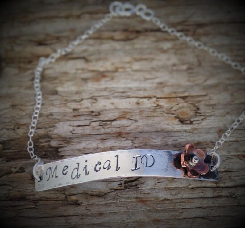 Epilepsy Bracelet Type 1 Diabetes Medical ID Bracelet Women Medical Jewelry