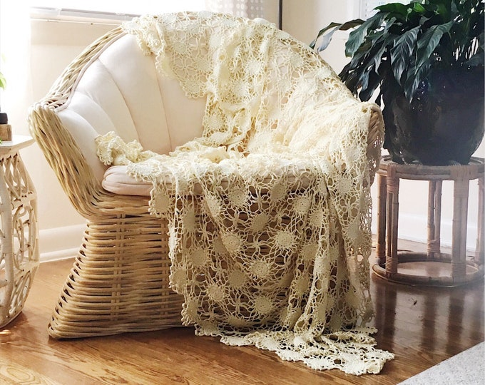Vintage Crochet Coverlet