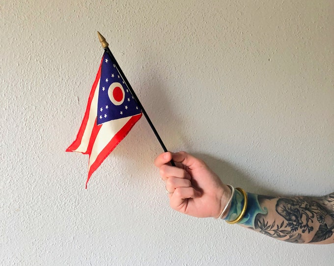 Miniature Silk Ohio State Flag