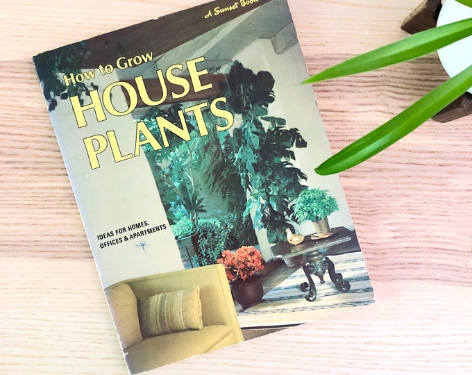 How to Grow House Plants Reference Guide Book Plant Library