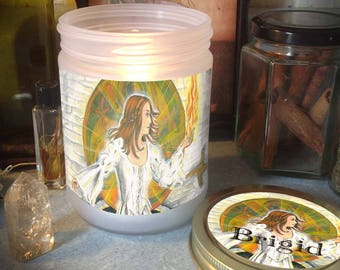 Brigid Candle Jar, Blessed Candle Included