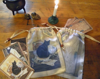Art of Magic, The Hidden Path Cat Oracle or Tarot Bag