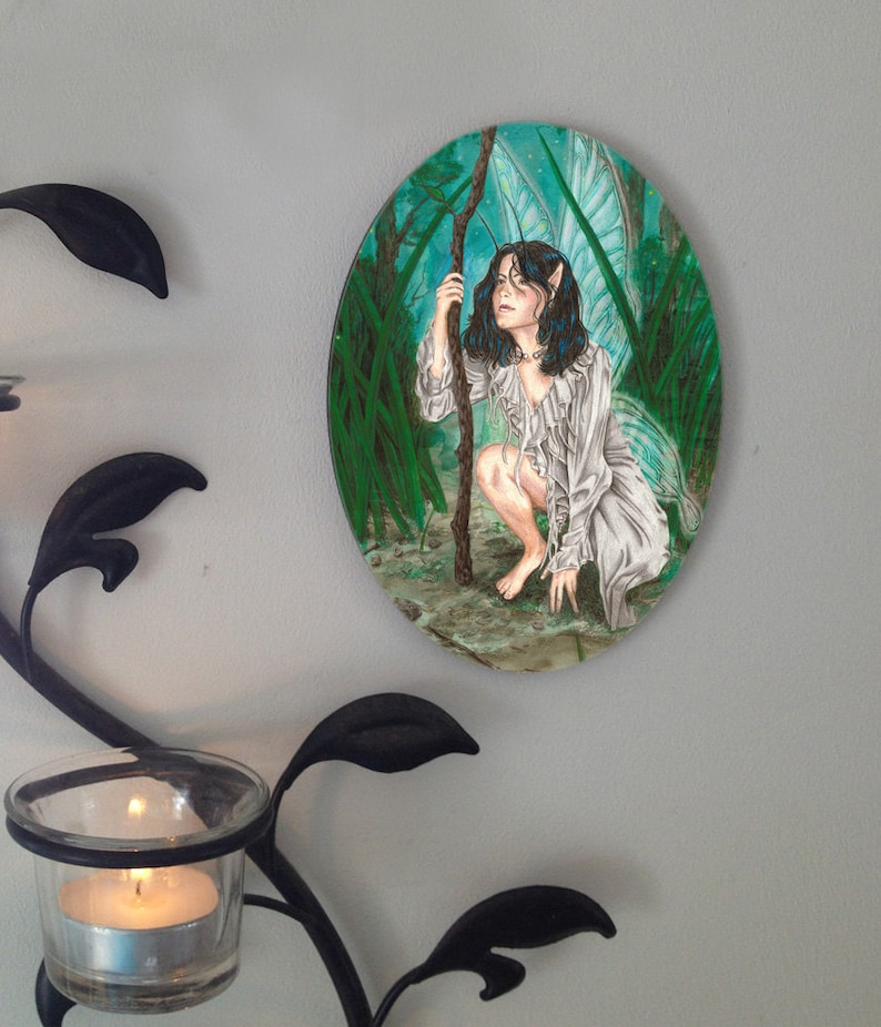 Faerie Guide Oval Tile Wall Hanging image 0